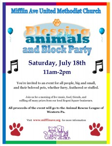 Blessing of Animals 2015 Flyer