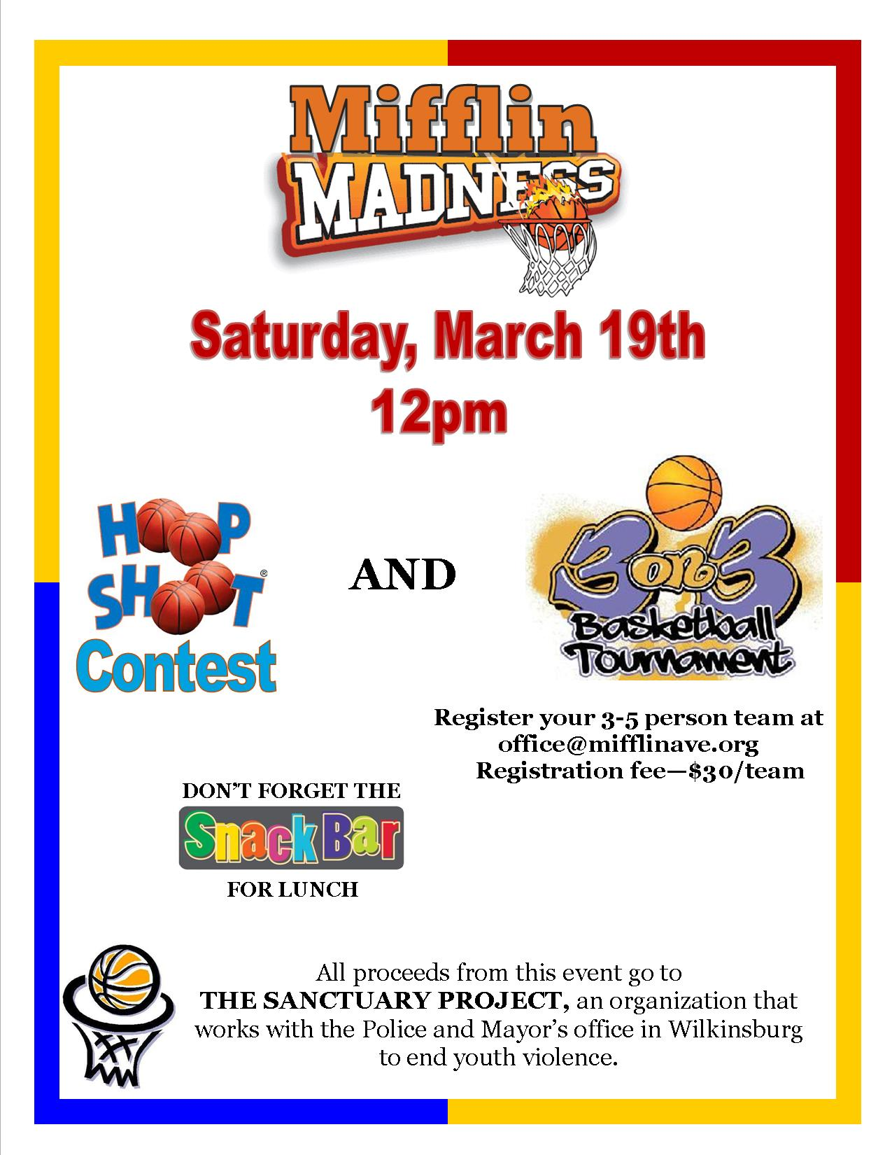Mifflin March Madness Flyer 2016 Image